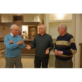 Cees de Wit, Nico Harinck en Henny Koenders 25 jaar lid
